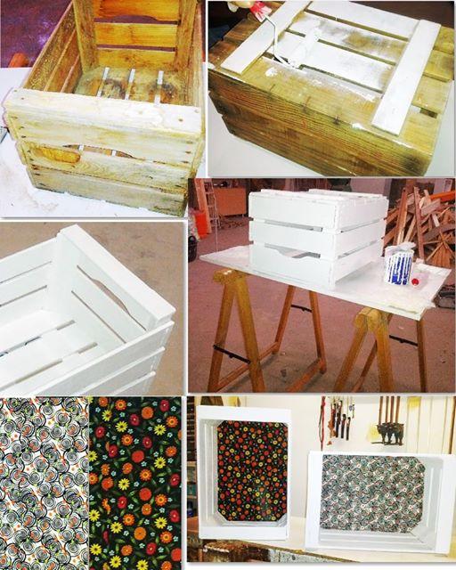 como reciclar cajas de madera