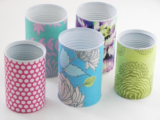 latas reutilizadas