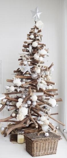 arbol de navidad con conchas