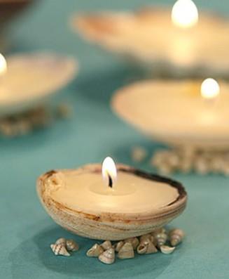 conchas con velas