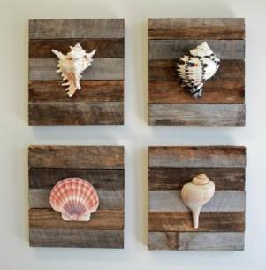 conchas y madera