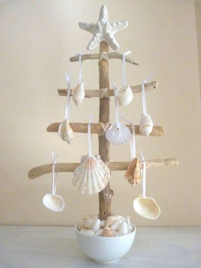 decorar con conchas la navidad