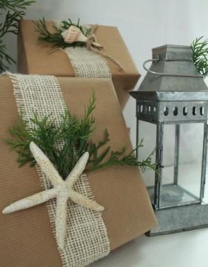 envolver regalos con conchas