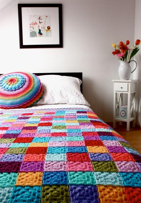 colcha de crochet