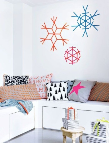 pared decorada washi tape