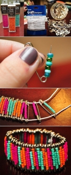 pulsera clips diy