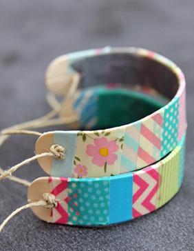 pulseras washi tape