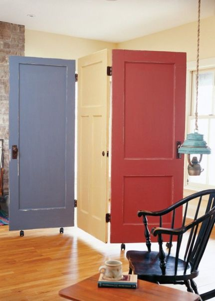 biombo diy con puertas