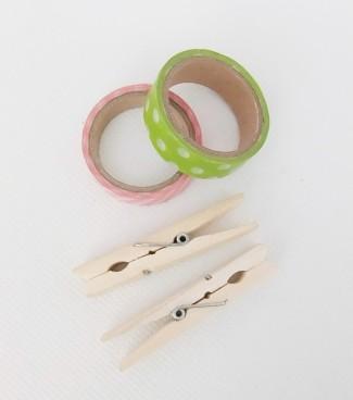 organizar cables pinzas ropa washi tape