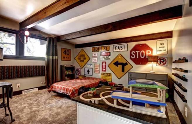 decorar habitación señal trafico